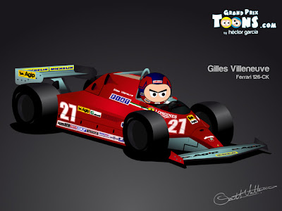 Жиль Вильнев Ferrari 126-CK 1981 Grand Prix Toons