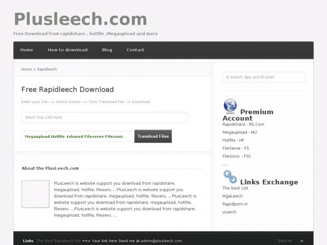 Plusleech premium link generator