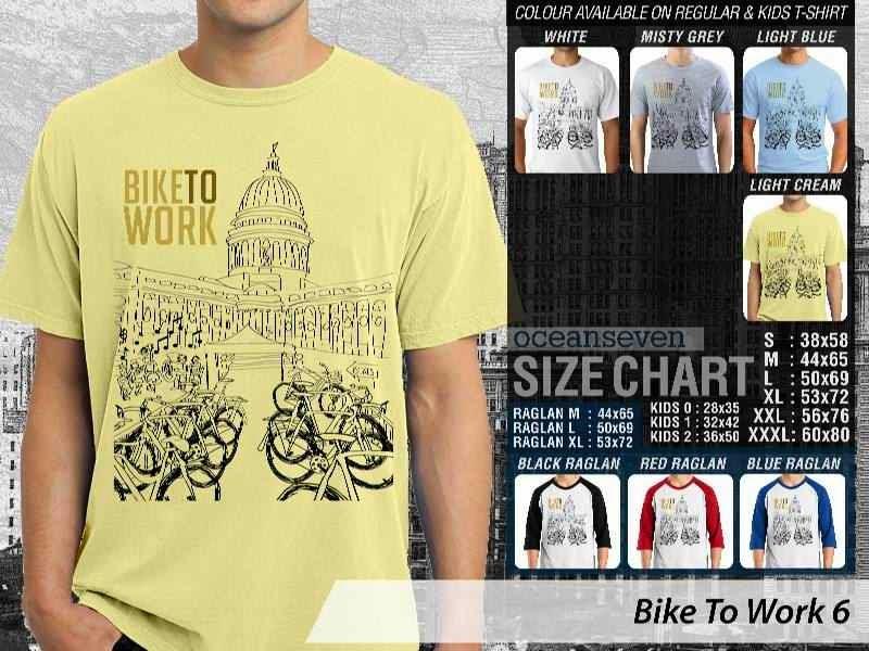 KAOS Bike To Work 6 Sepeda Lovers bicycle distro ocean seven