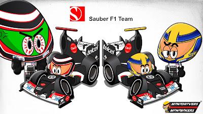 Нико Хюлькенберг Эстебан Гутьеррес Sauber C32 Los MiniDrivers 2013