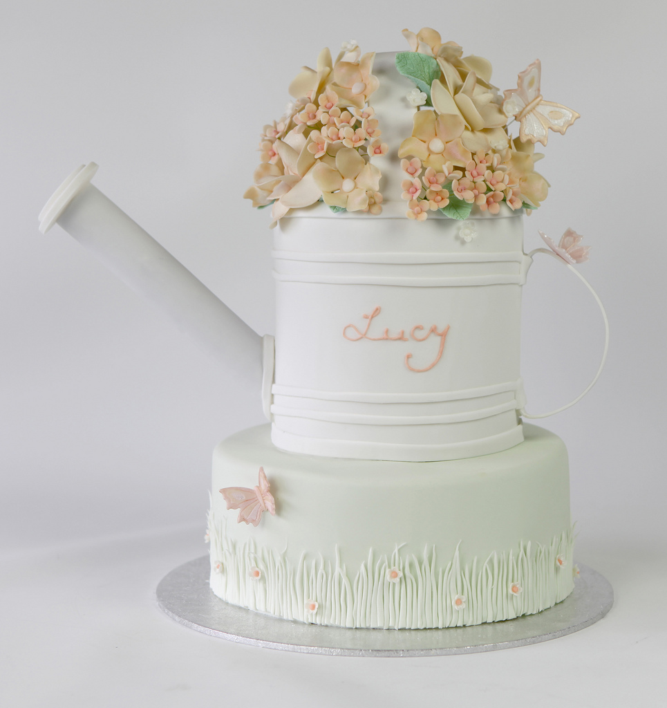 Garden Watering Can Cake