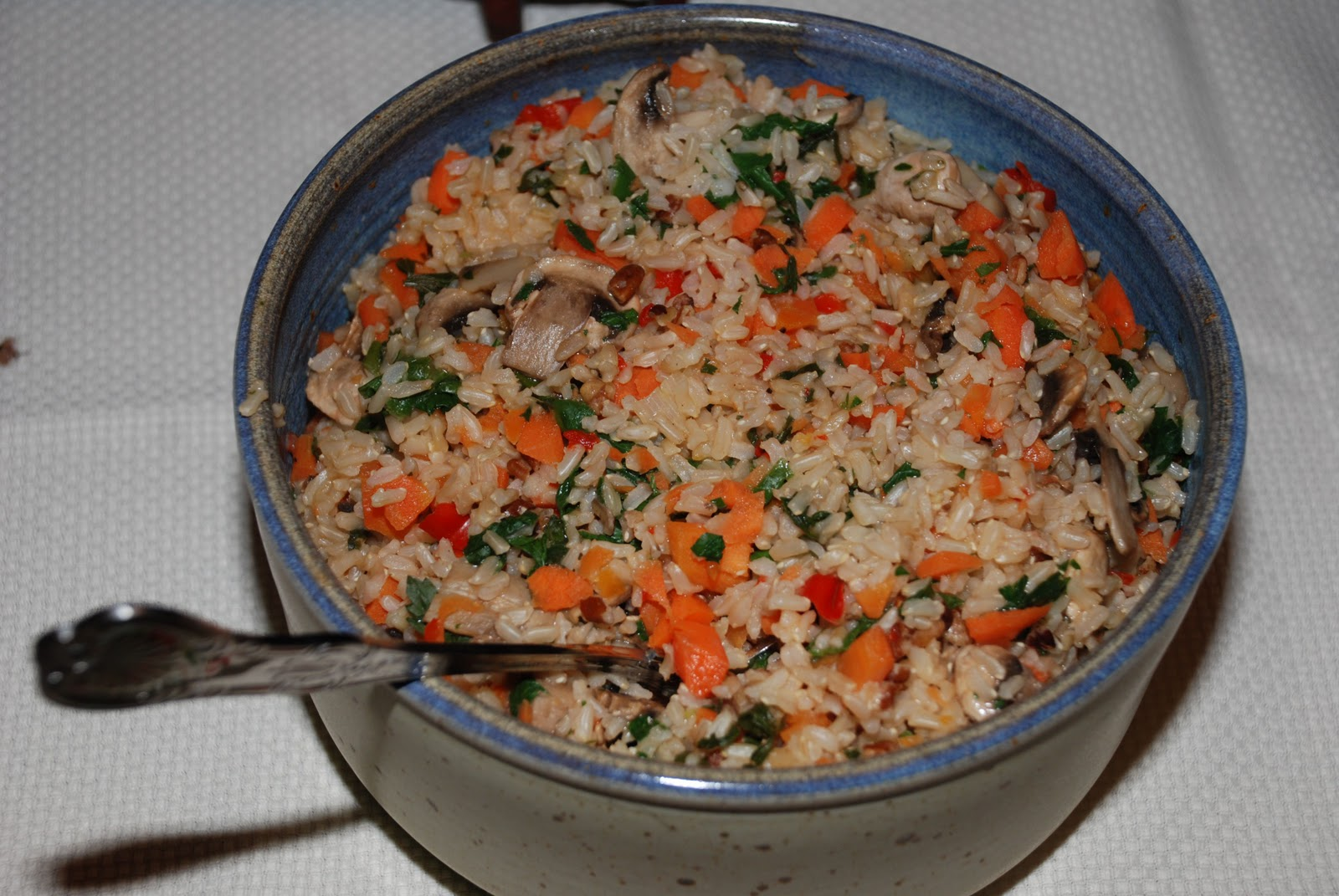 images Brown Rice Pilaf With Mushrooms