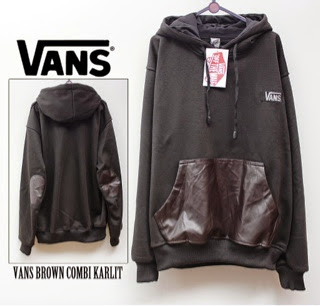 Jaket Vans Black Combi brown Karlit