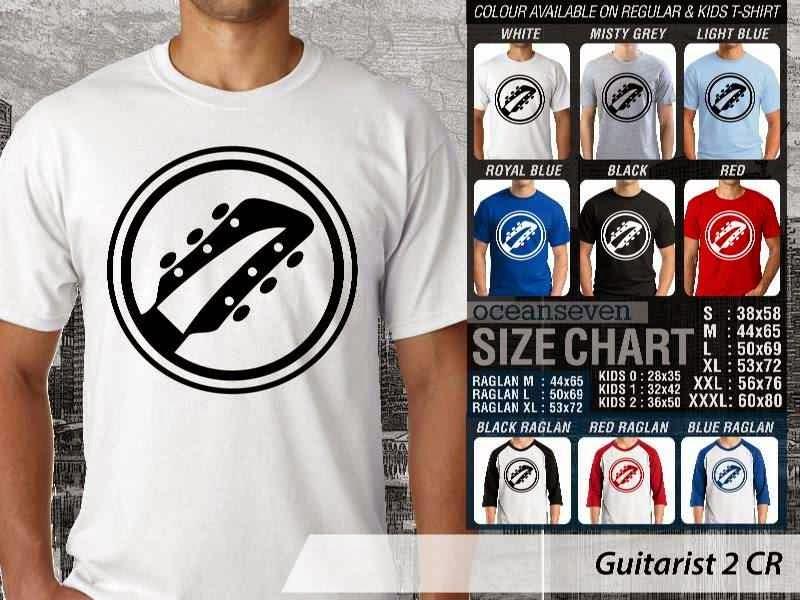 Kaos personel band Guitarist 9 Personil Band Musik distro ocean seven