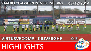 VirtusVecomp- Ciliverghe - Highlights del 07-12-2014