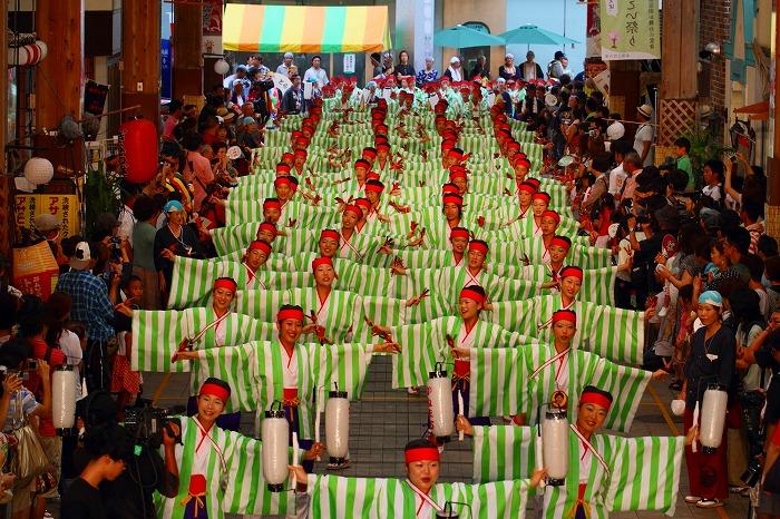 第59回よさこい祭り☆本祭2日目・はりまや橋競演場42☆上2目0389