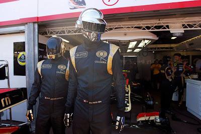 Lotus рекламирует новый альбом Daft Punk на Гран-при Монако 2013
