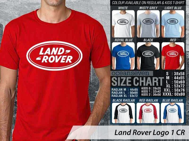 KAOS Land Rover Logo Otomotif distro ocean seven