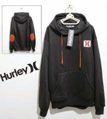 Jaket Distro Bandung- Jaket Hurley 01 Full Black