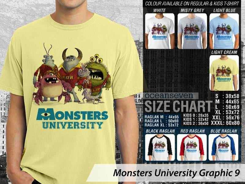 KAOS Monster University 19 Film Lucu distro ocean seven