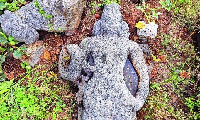 Rare sculptures thrown out as modern temple comes up at ancient Pallava site