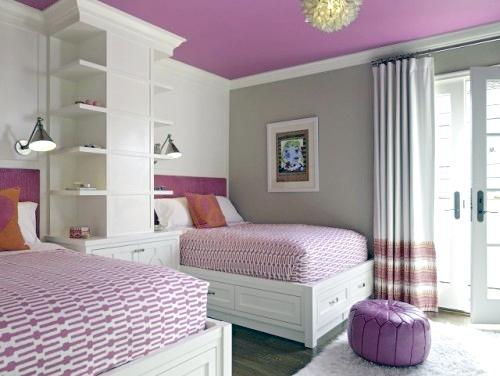 Schlafzimmer ideen wandgestaltung lila  Sanviro.com | Lila Schlafzimmer Bilder