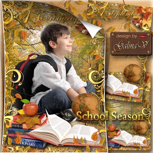 Kid's Frame on 1 September - School Season
