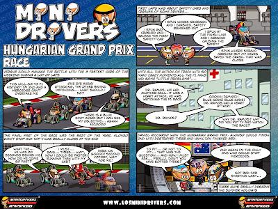комикс MiniDrivers по гонке на Гран-при Венгрии 2014