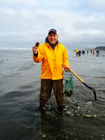 Washington Coast Clam Digging