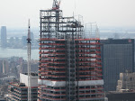 An in-progress Bank of America tower