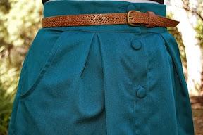 Teal Green Kelly Skirt