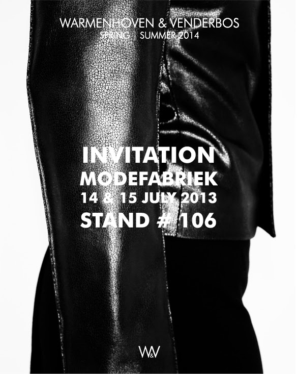 Warmenhoven & Venderbos | Sales invitation | Modefabriek | Collection Spring Summer 2014 | Fashion | Verkoop uitnodiging | Voorjaar Zomer 2014