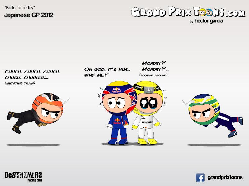 destroyers racing club - комиксы Grand Prix Toons по Гран-при Японии 2012