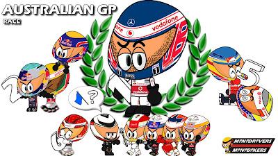 победа Дженсона Баттона - результаты Гран-при Австралии 2012 от Los MiniDrivers