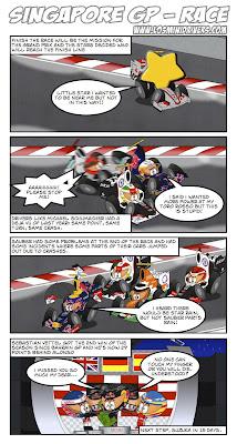 комикс Los MiniDrivers по Гран-при Сингапура 2012
