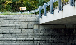 Cincinnati Redi-Rock retaining wall bridge repair