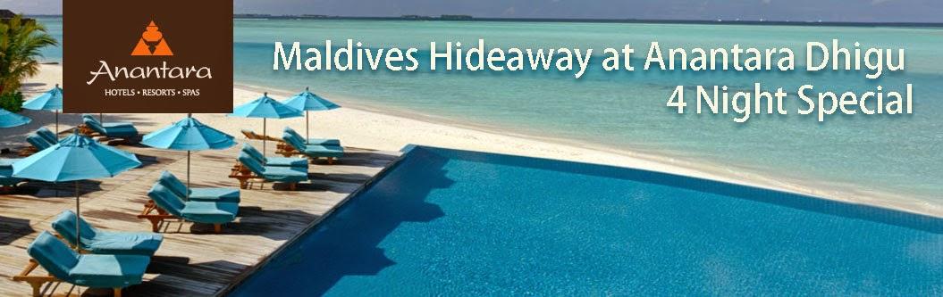 5星級馬爾地夫度假村Anantara Dhigu Resort & Spa入住4晚8折,HotelClub訂再7折。
