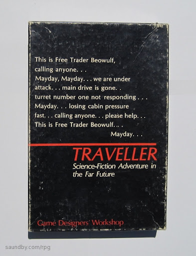 1977 Traveller RPG Game Box