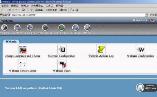 webmin panel