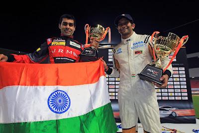 Карун Чандхок и Нараин Картикеян на Гонке чемпионов 2012