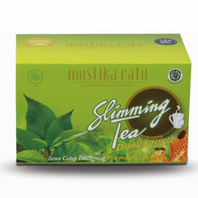 Pelangsing Mustika Ratu Slimming Tea Honey & Lime Double Strength : MSS-40