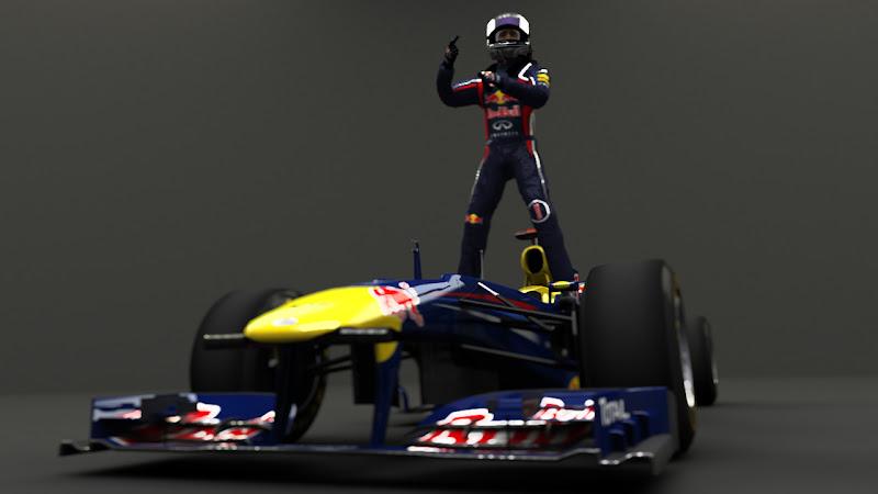 арт рендер Себастьян Феттель побеждает за Red Bull от DeadstaR1986