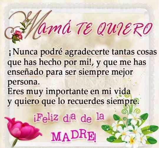 Gracias Madre Poemas poemas de amor: feliz dia mama