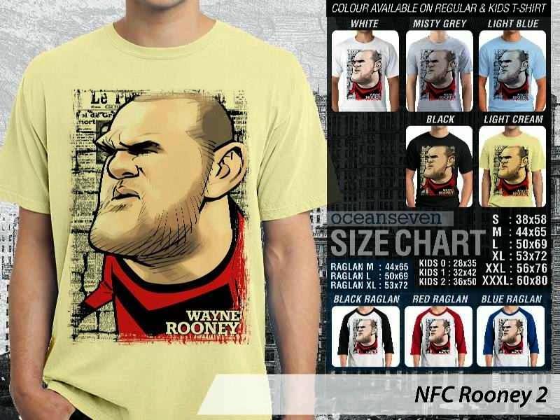 KAOS Wayne Rooney 2 Kartun Bola distro ocean seven