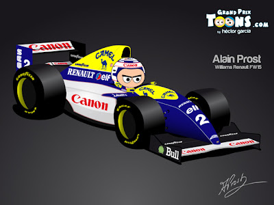 Алан Прост Williams FW15 1993 - Grand Prix Toons