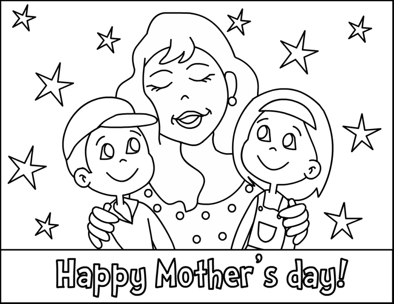 Happy Mother's Day Printable Coloring Pages, Pictures Free - free coloring pages mothers day