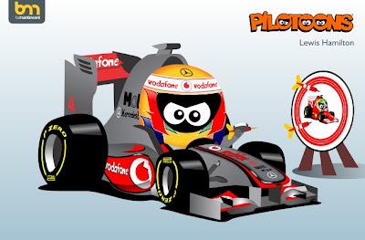 Льюис Хэмилтон McLaren MP4-27 pilotoons 2012