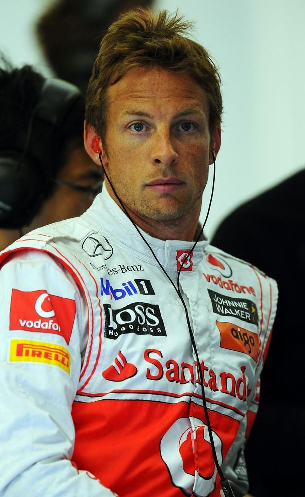 Дженсон Баттон с забавной прической на Гран-при Бельгии 2011