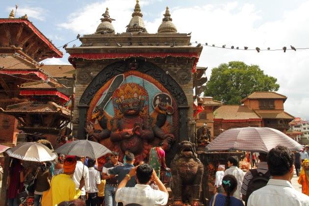 Kaal Bhairav Statue near Kathmandu Durbar Square