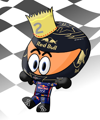 коронованный Себастьян Феттель на Гран-при Кореи 2011 Los MiniDrivers