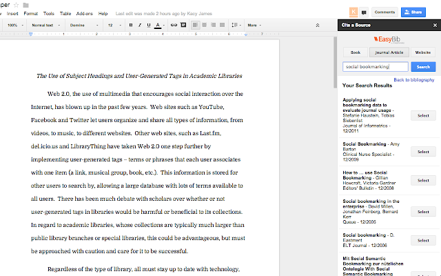research paper google docs