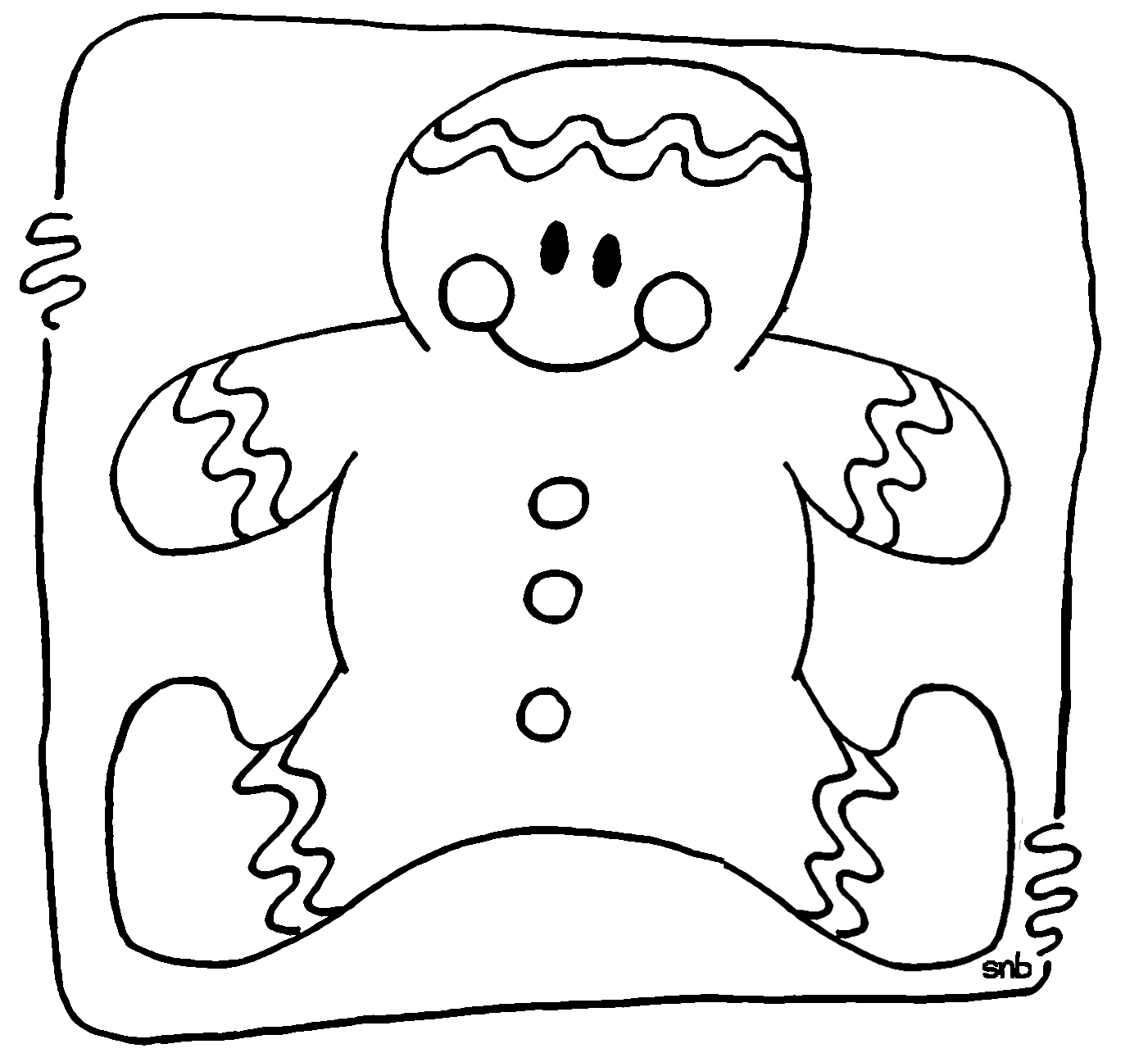 gingerbread coloring page - GINGERBREAD MAN coloring pages Decorated