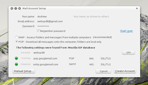 Thunderbird gmail settings
