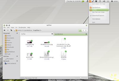 Sparkeshare Ubuntu screenshot