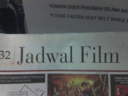 Jadwal, Daftar Film Terbaru Tahun 2011