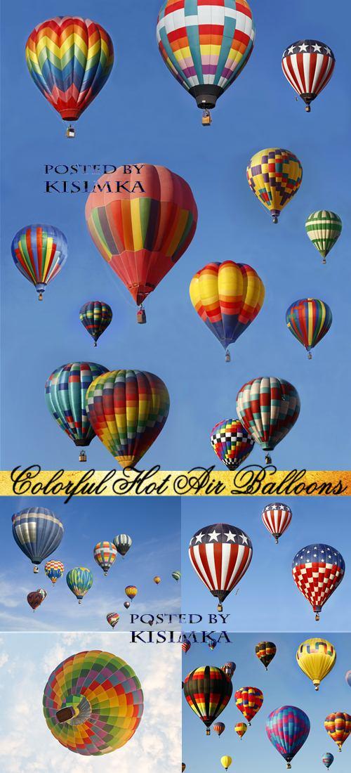 Stock Photo: Colorful Hot Air Balloons