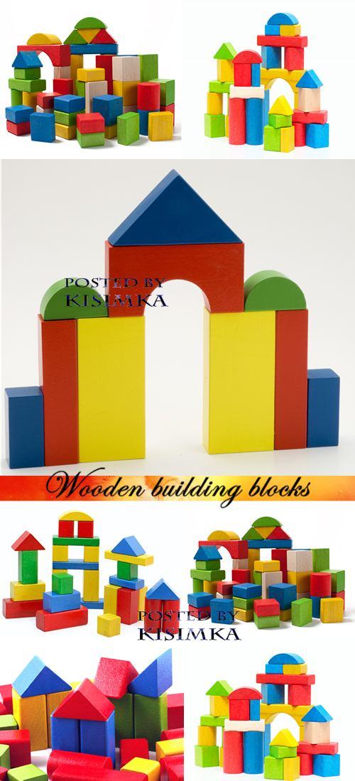 Stock Photo: Wooden building blocks