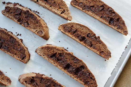 If you're a chocolate lover, then these chocolate chocolate chip biscotti cookies are the perfect grown up cookie.