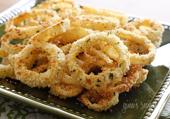 Low Fat Baked Onion Rings | Skinnytaste