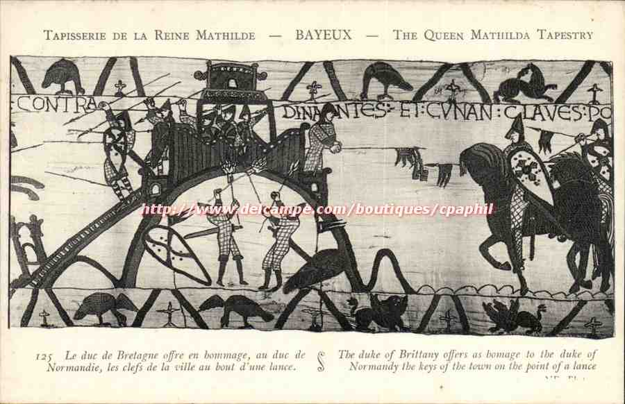 The Bayeux Tapestry à la Vintage Postcards